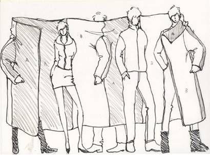 日系衣服手绘图